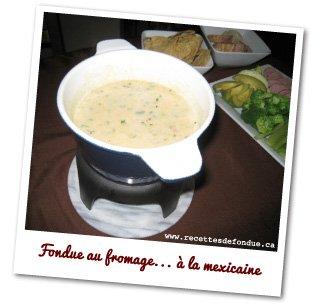 fondue au fromage à la mexicaine